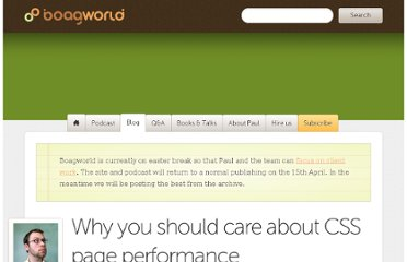 http://boagworld.com/dev/why-you-should-care-about-css-page-performance/