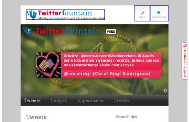http://www.twitterfountain.com/fountains/create/%23noiestwitterBar%C3%A7a