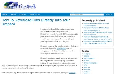 http://www.techtipsgeek.com/download-files-directly-into-dropbox/14483/