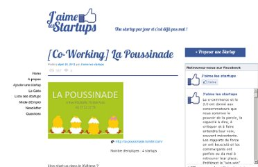 http://www.jaimelesstartups.fr/co-working-la-poussinade/