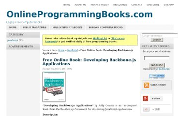 http://www.onlineprogrammingbooks.com/free-online-book-developing-backbone-js-applications/