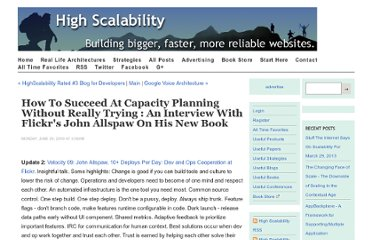 http://highscalability.com/how-succeed-capacity-planning-without-really-trying-interview-flickrs-john-allspaw-his-new-book