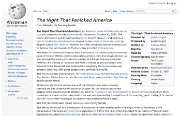 http://en.wikipedia.org/wiki/The_Night_That_Panicked_America