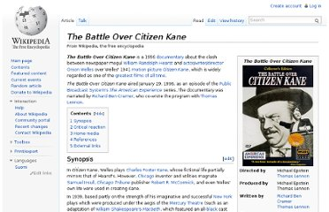 http://en.wikipedia.org/wiki/The_Battle_Over_Citizen_Kane