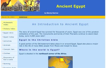 http://www.woodlands-junior.kent.sch.uk/homework/egypt.html