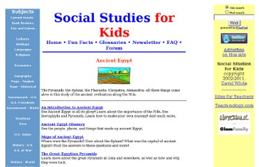 http://www.socialstudiesforkids.com/subjects/ancientegypt.htm