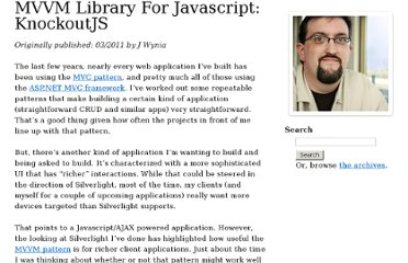 http://www.wynia.org/wordpress/2011/03/mvvm-library-for-javascript-knockoutjs