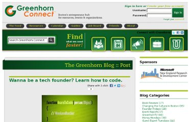 http://greenhornconnect.com/blog/wanna-be-tech-founder-learn-how-code