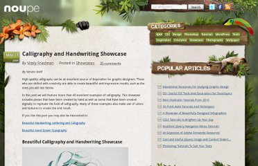 http://www.noupe.com/showcases/calligraphy-and-handwriting-showcase.html