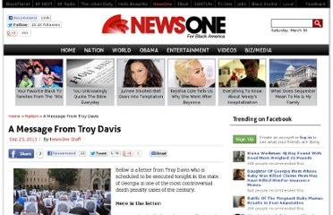 http://newsone.com/1538835/a-message-from-troy-davis/