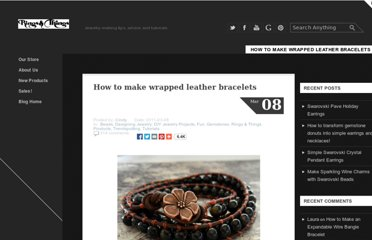 http://www.rings-things.com/blog/2011/03/08/how-to-make-wrapped-leather-bracelets/#.T6Hx6KseN2A