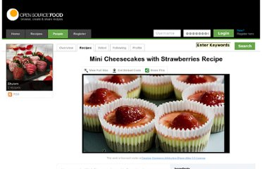 http://www.opensourcefood.com/people/Shuism/recipes/mini-cheesecakes-with-strawberries