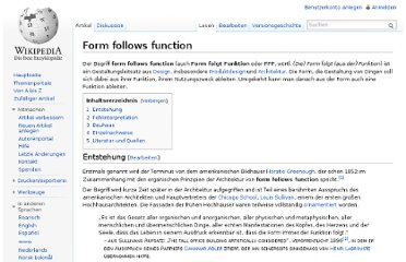 http://de.wikipedia.org/wiki/Form_follows_function