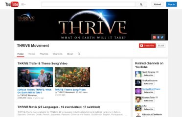 http://www.youtube.com/user/ThriveMovement