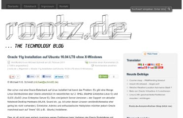 http://www.rootz.de/2011/02/oracle-11g-installation-auf-ubuntu-10-04-lts-ohne-x-windows/
