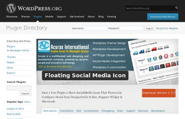 http://wordpress.org/extend/plugins/floating-social-media-icon/