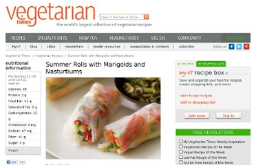 http://www.vegetariantimes.com/recipe/summer-rolls-with-marigolds-and-nasturtiums/