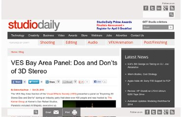http://www.studiodaily.com/2010/10/ves-bay-area-panel-dos-and-donts-of-3d-stereo/