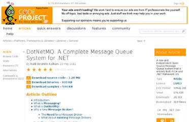 http://www.codeproject.com/Articles/193611/DotNetMQ-A-Complete-Message-Queue-System-for-NET