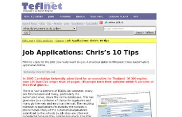 http://edition.tefl.net/articles/career/job-application-tips/#more-3004