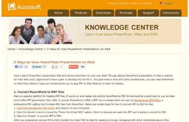 http://www.acoolsoft.com/articles/view-powerpoint-on-ipad.html