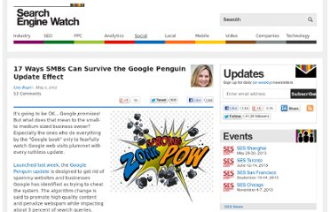 http://searchenginewatch.com/article/2172157/17-Ways-SMBs-Can-Survive-the-Google-Penguin-Update-Effect