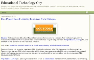 http://educationaltechnologyguy.blogspot.com/2012/02/free-project-based-learning-resources.html?m=1