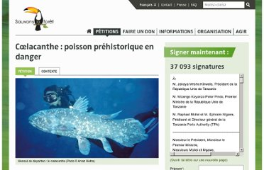 https://www.sauvonslaforet.org/petitions/861/coelacanthe-poisson-prehistorique-en-danger
