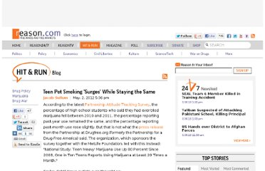 http://reason.com/blog/2012/05/02/teen-pot-smoking-surges-while-staying-th