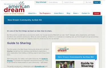 http://www.newdream.org/programs/collaborative-communities/community-action-kit/sharing