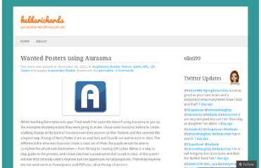 http://keldarichards.wordpress.com/2011/11/20/wanted-posters-using-aurasma/