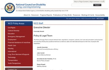 http://www.ncd.gov/council_and_staff/ncd_staff