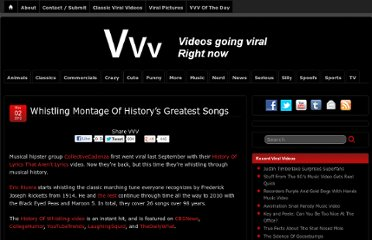 http://www.viralviralvideos.com/2012/05/02/whistling-montage-of-historys-greatest-songs/