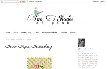 http://twoshadesofpink.blogspot.com/2010/03/two-tips-tuesday.html