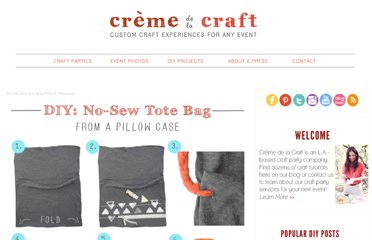 http://www.cremedelacraft.com/2012/05/diy-no-sew-tote-bag-from-pillow-case.html