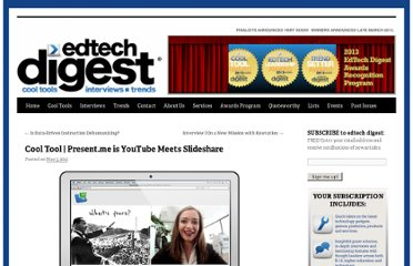 http://edtechdigest.wordpress.com/2012/05/03/cool-tool-present-me-is-youtube-meets-slideshare/