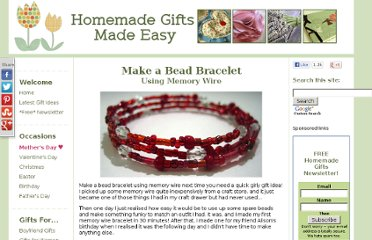 http://www.homemade-gifts-made-easy.com/make-a-bead-bracelet.html