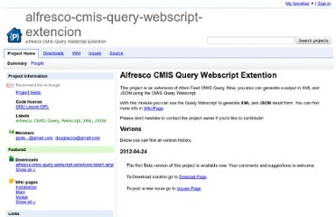 http://code.google.com/p/alfresco-cmis-query-webscript-extencion/