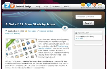 http://www.doublejdesign.co.uk/2009/09/a-set-of-32-free-sketchy-icons/