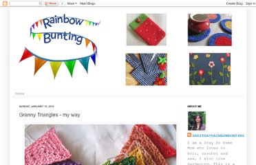 http://rainbowbunting.blogspot.com/2012/01/granny-triangles-my-way.html