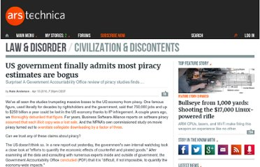 http://arstechnica.com/tech-policy/news/2010/04/us-government-finally-admits-most-piracy-estimates-are-bogus.ars