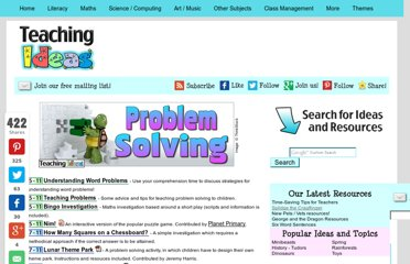 http://www.teachingideas.co.uk/maths/contents_problemsolving.htm