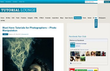 http://www.tutoriallounge.com/2011/10/must-have-tutorials-for-photographers-photo-manipulation/