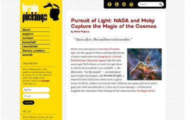 http://www.brainpickings.org/index.php/2012/05/04/pursuit-of-light-nasa-moby/