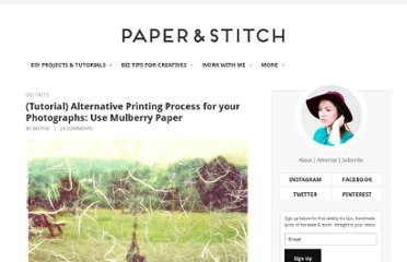 http://papernstitchblog.com/2011/04/19/tutorial-alternative-printing-process-for-your-photographs-use-mulberry-paper/