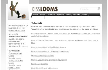 http://kisslooms.com/tutorials