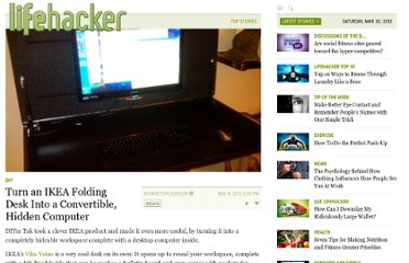 http://lifehacker.com/5907823/turn-an-ikea-folding-desk-into-a-convertible-hidden-computer