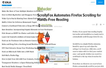 http://lifehacker.com/5557268/scrollyfox-automates-firefox-scrolling-for-hands+free-reading
