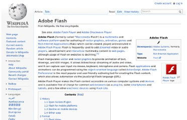 http://en.wikipedia.org/wiki/Adobe_Flash