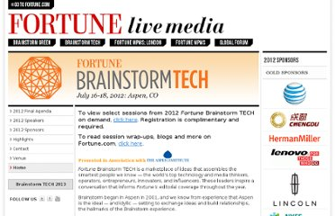 http://www.fortuneconferences.com/brainstorm-tech-2012/